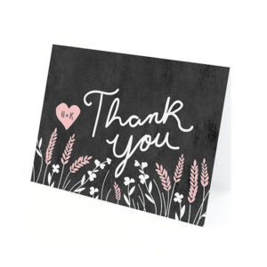 Recipients will be able to plant these Prairie Love Seed Paper Thank You Cards to grow wildflowers.