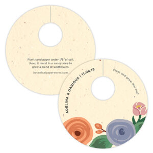 Inspired by lush summer blooms, these Romantic Floral Plantable Wine Glass Tags will add a pop of color to your tables.