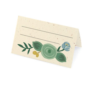 These Romantic Floral Plantable Place Cards are perfect for couples planning an eco-friendly wedding because they don't leave any waste behind.