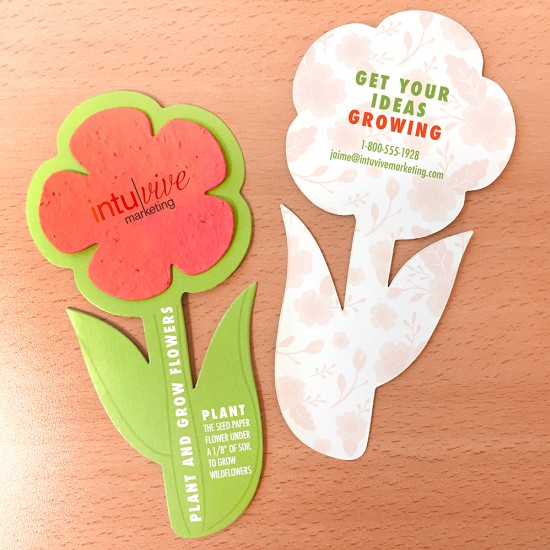 Recipients will rave about these unique Rounded Flower Cards with Plantable Shape and enjoy planting the seed paper flower shape to grow real wildflowers!