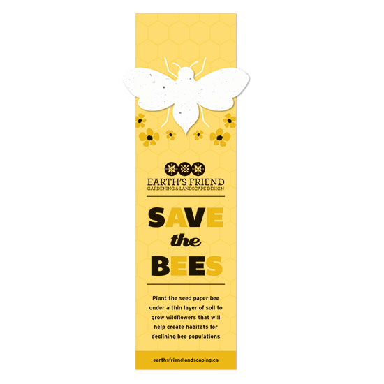 Share a promotion with a purpose with these beautiful Save The Bees Plantable Bee Bookmarks.