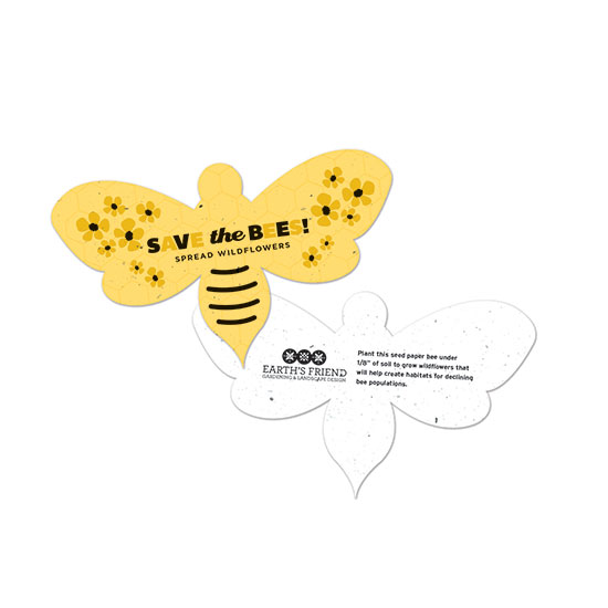 With these Save The Bees Plantable Bee Shapes, you can spread awareness and wildflowers that will help create habitats for honeybees!