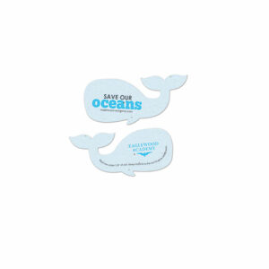 Help spread a message to preserve and protect our oceans with these Save Our Oceans Plantable Whale Shapes that grow.