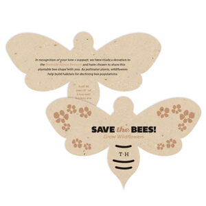 Save The Bees Plantable Wedding Favors will give your guests the chance to grow wildflowers that help the natural habitat of buzzing bees.