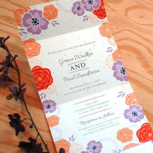 Delight your guest with colorful blooms and give a gift they can plant to grow real flowers with this Bloom Seal and Send Wedding Invitation.