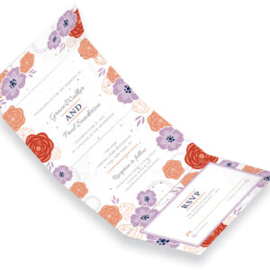 Bloom Seal and Send Wedding Invitations are printed on eco-friendly seed paper!