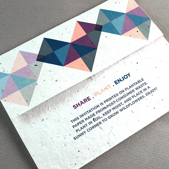 Fun and modern, these Geometric Seal and Send Wedding Invitations are sure to get noticed in the mailbox.