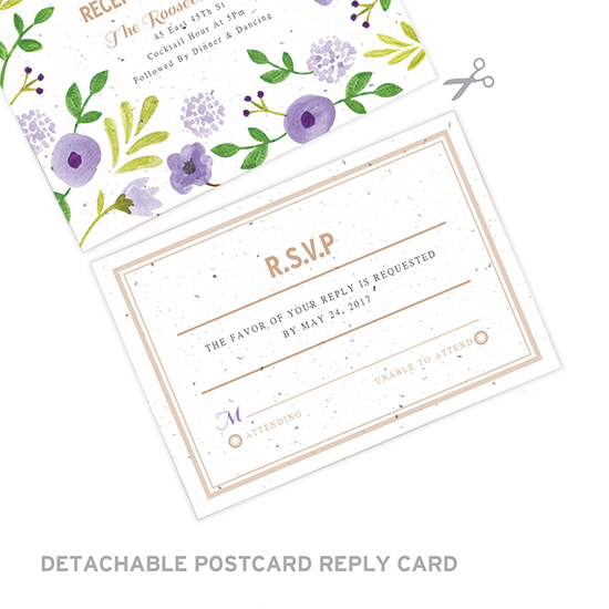 Not only are these Painterly Florals Seal and Send Wedding Invitations beautiful and unique, they're eco-friendly, too!