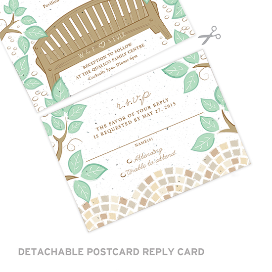 Plant these eco-friendly Park Birds Seal and Send Wedding Invitations to grow a beautiful garden of wildflowers.