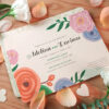 These Romantic Floral Seed Paper Wedding Invitations are perfect for couples who want an eco-friendly wedding because they can be planted to grow real wildflowers or fresh herbs while leaving no waste behind.