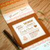 Add a touch of country charm with these Seal and Send Wedding Invitations that are fully plantable and required NO envelopes.