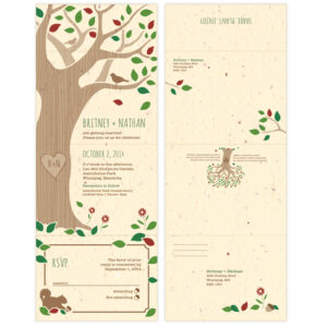 Plant these Rustic Tree Seal and Send Wedding Invitations to grow a lovely garden full of colorful wildflowers.