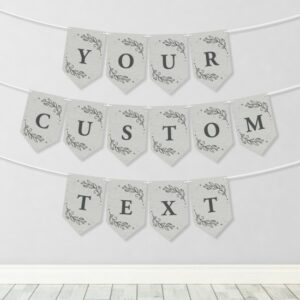 The guest or guests of honor can plant the Custom Plantable & Eco-friendly Party Banner Bunting: Seeds Of Love and grow a garden of wildflowers in celebration.