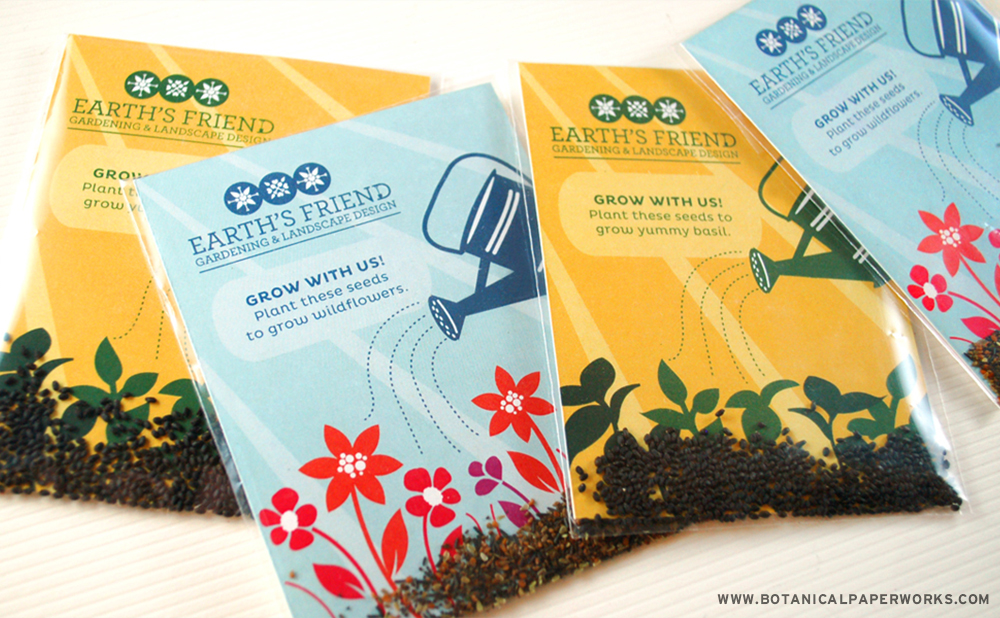 Botanical PaperWorks seed paper company's seed packet promo products