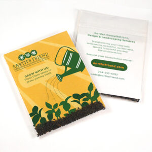 These Double Sided Basil Seed Packet Promotions are perfect for eco-friendly branding.