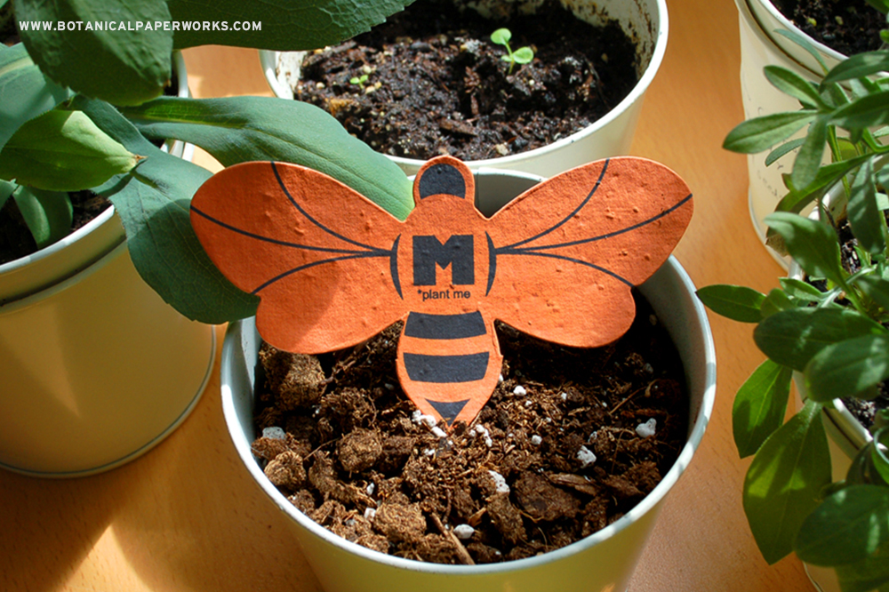 Bee-Shaped Seed Paper Promo Product