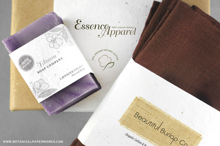 seed paper belly bands for home apparel and body products