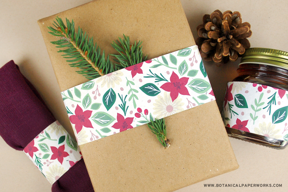 seed paper holiday gift belly bands