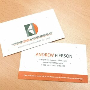 Classic Seed Paper Business Card