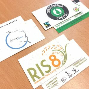 Seed Paper Business Cards Samples