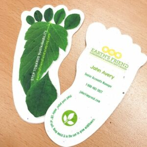 Sustainability Footprint Seed Paper Business Card