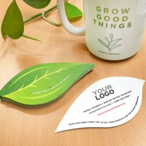 Break the norm and make an impact with these unique Leaf Shape Seed Paper Business Cards that were made to send a green message that is both fresh and professional.