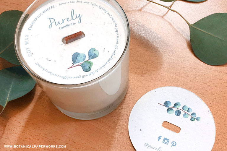 seed paper candle dust covers