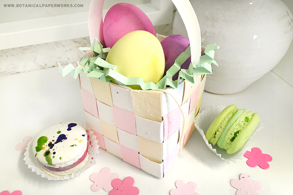 seed paper easter baskets