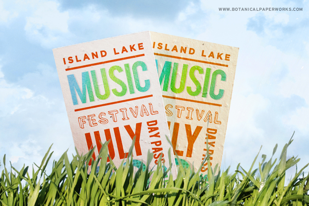 Seed Paper Music Festival Cards
