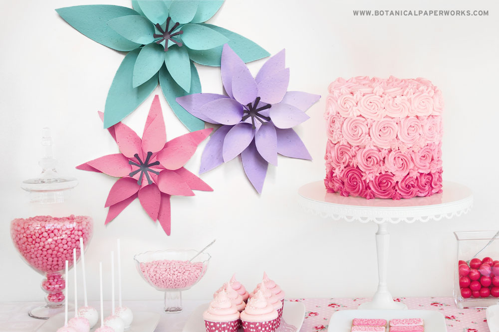 seed paper decor for special event