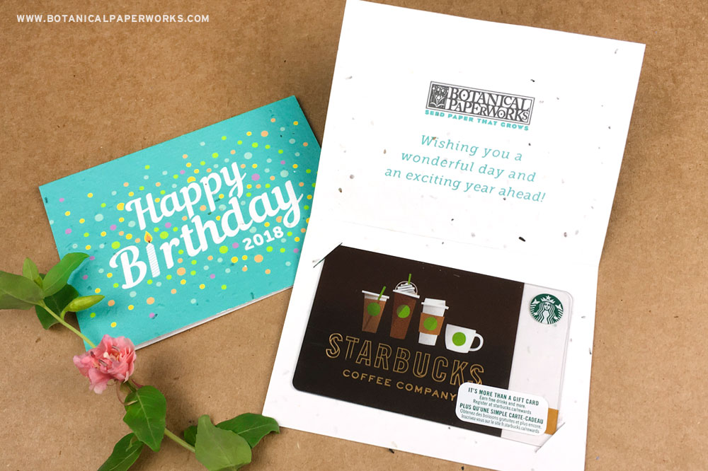 Happy Birthday seed paper card holders