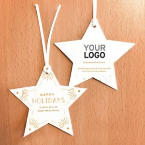 Share a festive holiday star with an art deco design and the gift of wildflowers with these seed paper holiday ornaments.