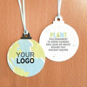 Plantable Earth Christmas Ball Ornaments