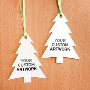 Double-Sided Modern Evergreen Ornaments