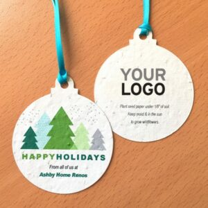 Modern Trees Seed Paper Ball Ornaments