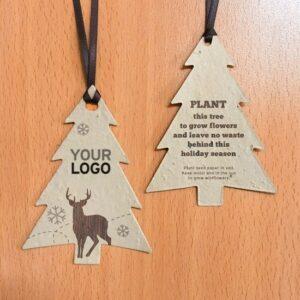 Rustic Woodland Modern Tree Ornaments