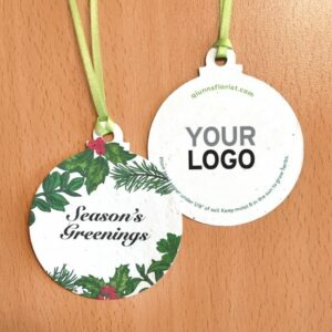 Send Season's Greenings and the gift of herbs to plant and enjoy with these unique holiday ornaments that are embedded with NON-GMO herb seeds.