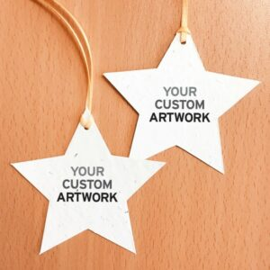 Spread festive cheer this Christmas by giving clients and staff these seed paper holiday ornaments.