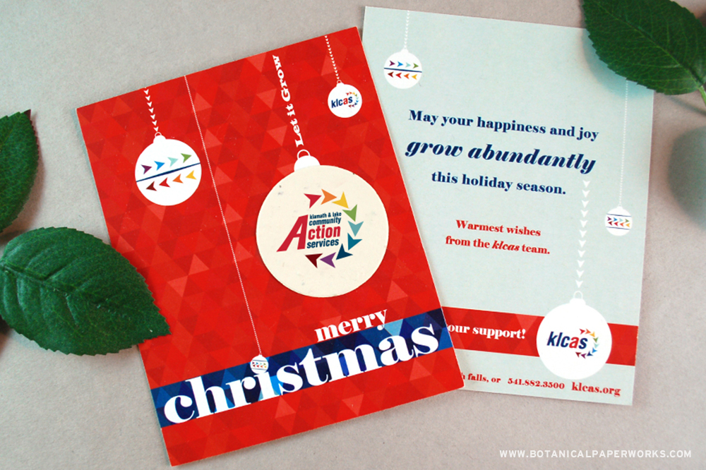 Find out why this non-profit organization chose seed paper holiday promotions to say thank you.
