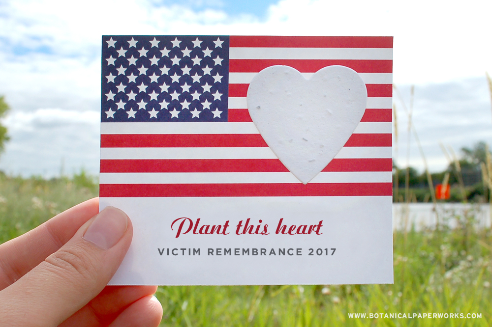 plantable seed paper memorial card for Victims Remembrance