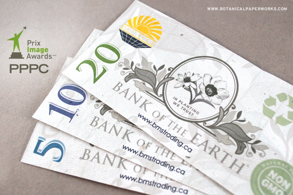 Seed paper money promotions for BMS Trading