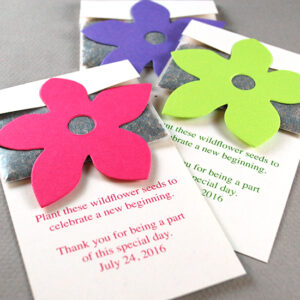 Grow wildflowers with these Wildflower Seed Packet Seed Paper Wedding Favors.