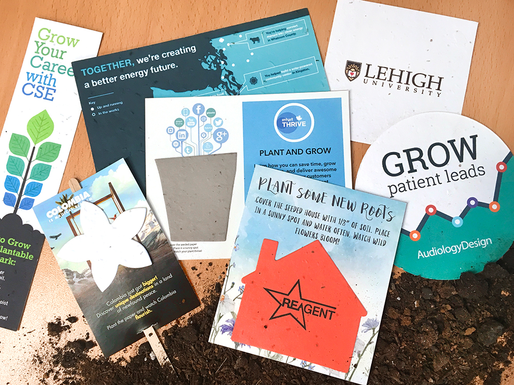 plantable seed paper promotions