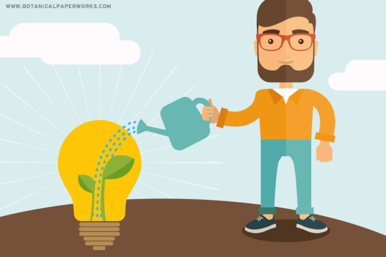 man planting an idea graphic