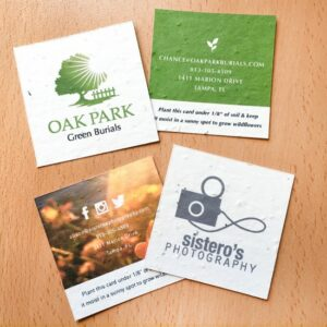 Eco-friendly and plantable, the special business cards have a unique square shape and will represent your brand in a modern and stylish way!