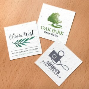 Plantable Square Business Cards - Samples