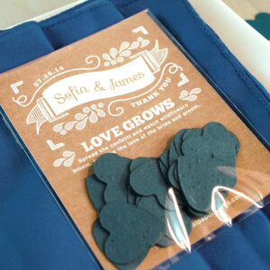 Grow wildflowers with these Canvas Heart Confetti Seed Paper Wedding Favors.