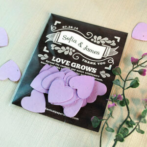 Guests will appreciate the flowers these Chalkboard Heart Confetti Seed Paper Wedding Favors will grow when planted.