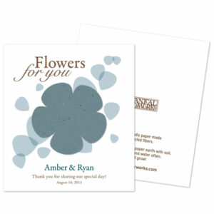 Grow flowers from a flower with these Classic Flower Seed Paper Favors!