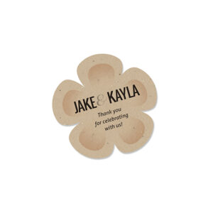 With these eco-friendly Plantable Shape Seed Paper Wedding Favors, your guests can #growgoodthings.